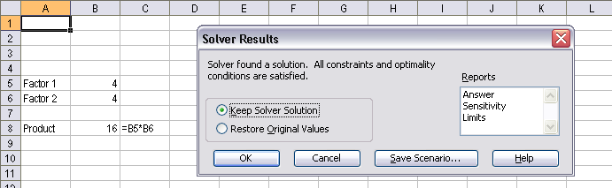 ms excel  solver in excel and vba