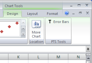Chart Tools Ribbon Tab PTS-Tools/Error-Bars Command