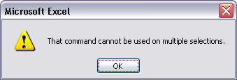 You cannot copy a poorly-formed discontiguous data range