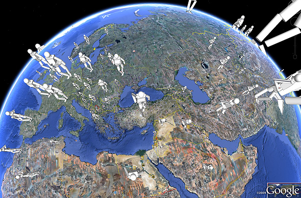Map Of The World 3d.Virtual Globes Peltier Tech Blog