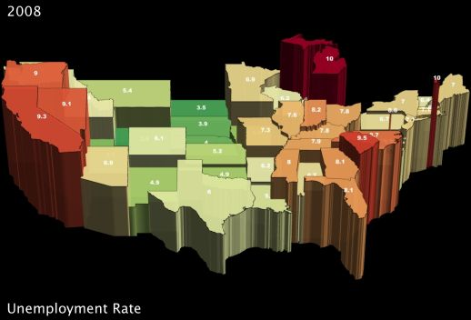 Unemployment Rate by State in 2007