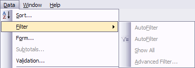 AutoFilter options with active cell in Pivot Table