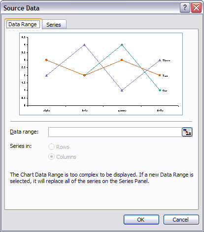 Excel 2003 Source Data Dialog