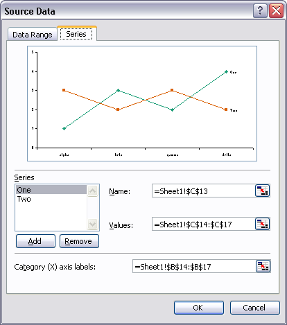 Series Tab Excel in Excel 2007 The Series Can