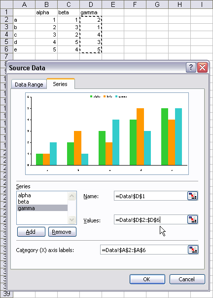 Series Tab Excel You Can Use The Series Tab of