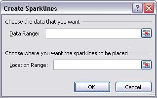 Create Sparklines Dialog