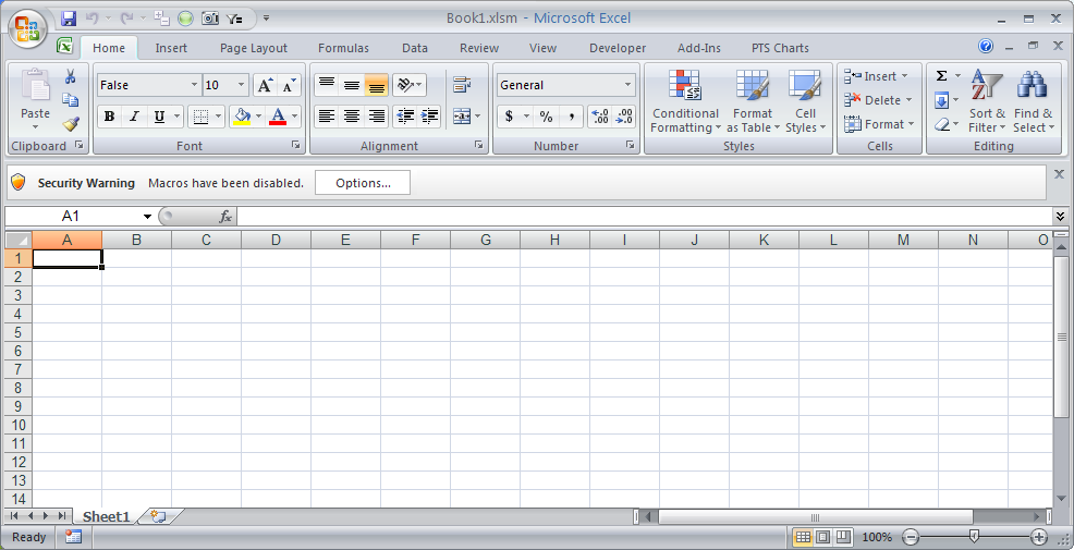 Macro Security Notice in Excel 2007