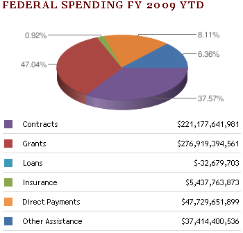 Whacky Pie Chart at USAspending.gov