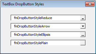 Drop Button Styles