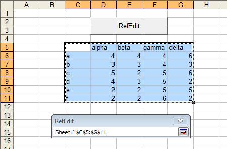 Alternative to Excel's Flaky RefEdit Control - Peltier Tech Blog