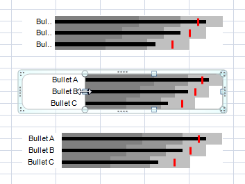 Multiple horizontal bullet chart - step 13