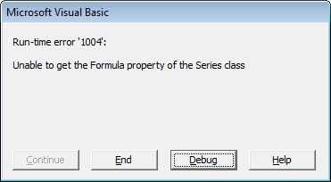 Error message: Excel can't read the formula