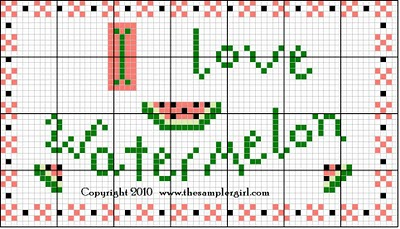 Watermelons Needlepoint Pattern