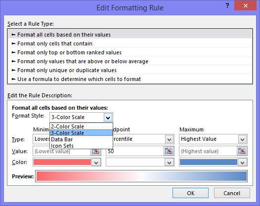 Conditional Formatting Edit Formatting Rules Dialog