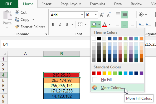 excel workbook theme
