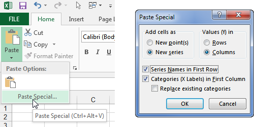 Paste Special Command and Dialog