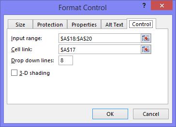 Format Dropdown Control