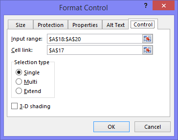 Format Dropdown Control
