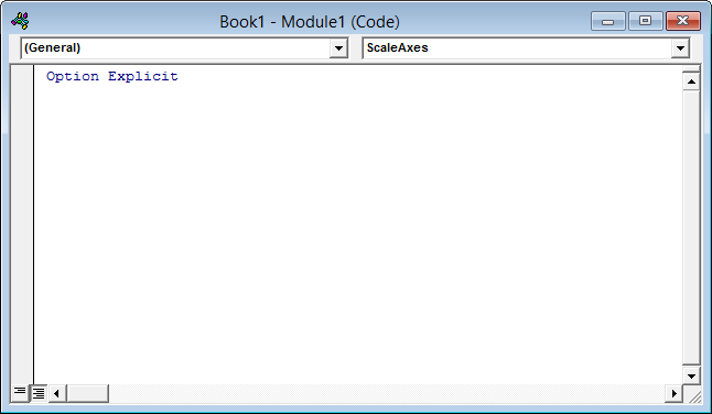 Empty code module