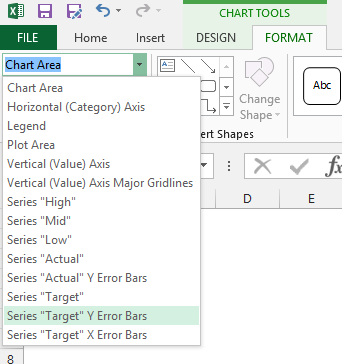 how to add individual error bars in excel 2016