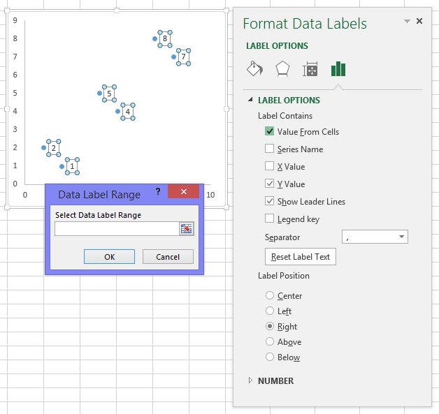 apply custom data labels to charted points - peltier tech blog