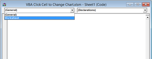 Click a Worksheet Cell to Change a Chart - Peltier Tech Blog