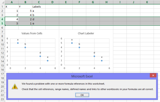 how to add custom labels to data points in excel