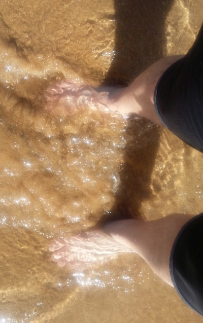 Dipping my feet in the Western Pacific