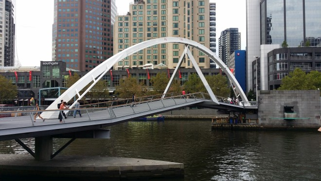 Footbridge over Yarra River in Melbourne