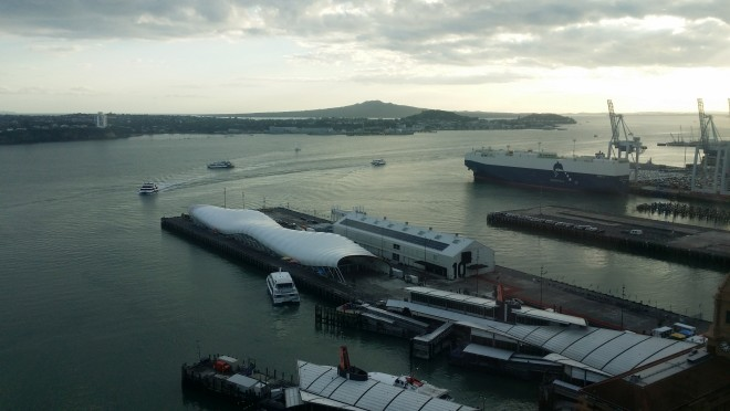 Auckland Harbor from PwC Tower