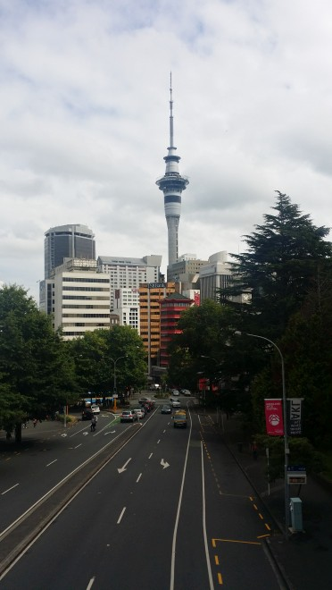 Sky Tower looms over Auckland