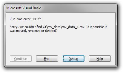 Error: File not Found