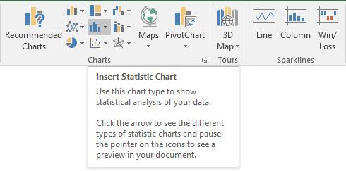 Insert Statistic Chart Dropdown