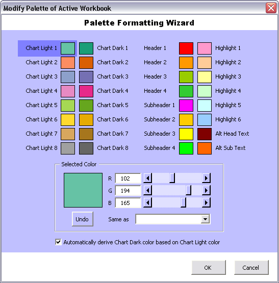 Custom PaletteWizard