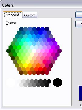 Tools - Options - Standard Colors