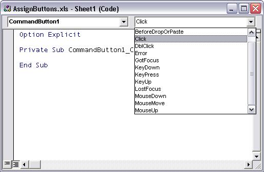How To: Assign a Macro to an ActiveX Control - Peltier Tech Blog