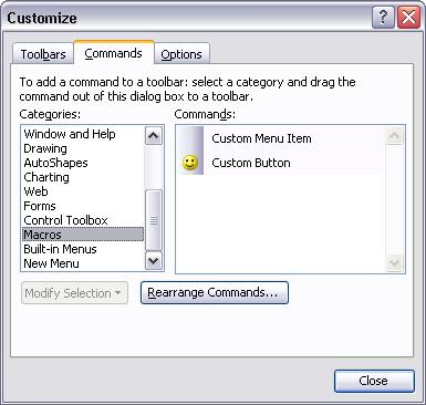 Customize Commands