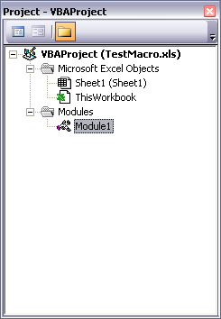 Project Explorer with New Module