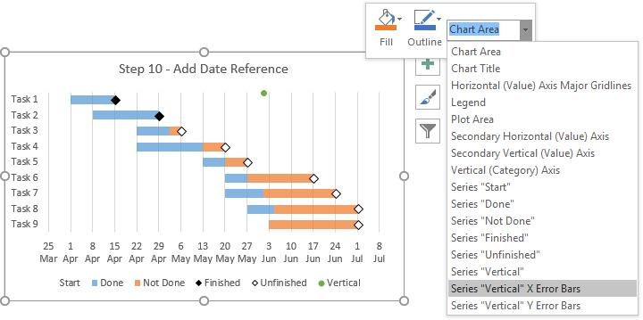 Gantt Charts in Microsoft Excel - Peltier Tech Blog