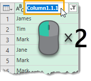 Double Click to Rename Column