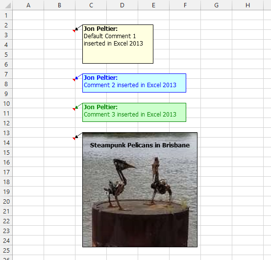 Excel 2013 Comment Containing an Image