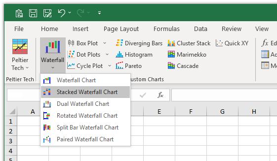 Peltier Tech Stacked Waterfall Chart Peltier Tech Charts For Excel