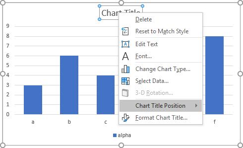Peltier Tech Charts for Excel Chart Title Context Menu