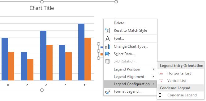 Peltier Tech Charts for Excel Legend Configuration Context Menu
