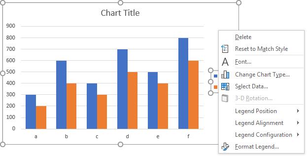Peltier Tech Charts for Excel Legend Context Menu