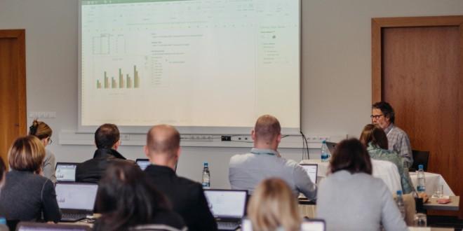 Jon leading a charting master class in 2018 in Ljubljana, Slovenia.