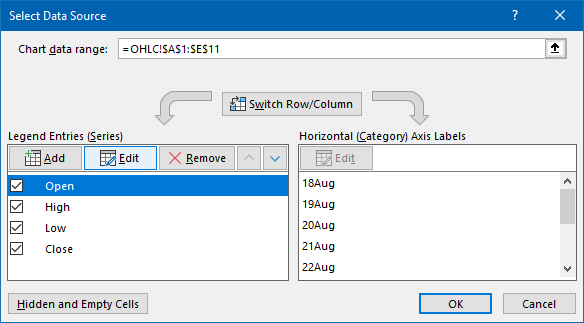 Select Data Dialog