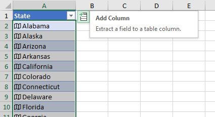 Add Column, Extract a Field