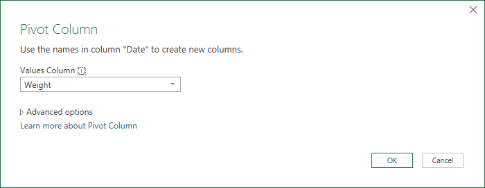 Pivot Date Column Using Weight for Values